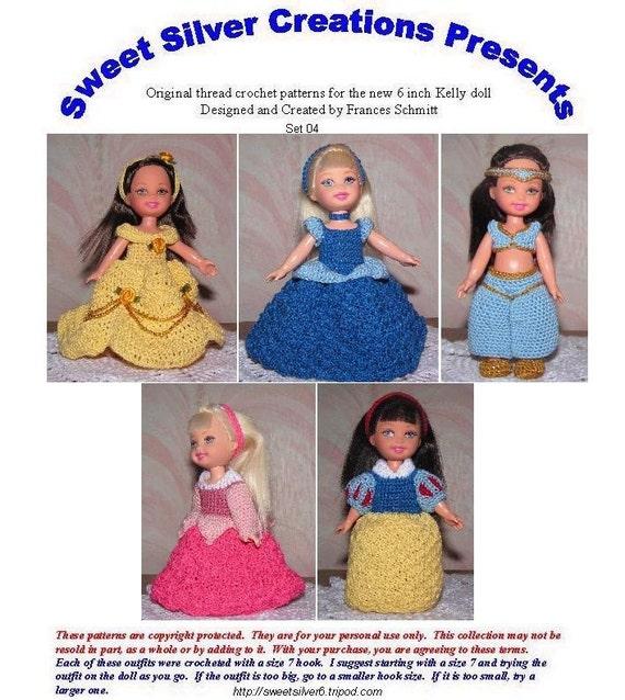 Crochet pattern set for 6 inch Kelly set 04