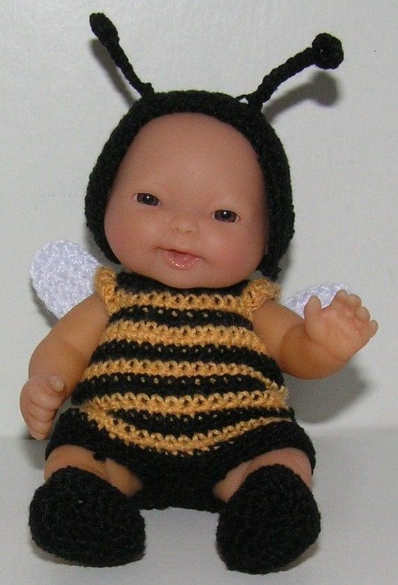 Crochet Pattern 5.5 inch Berenguer - Bumblebee