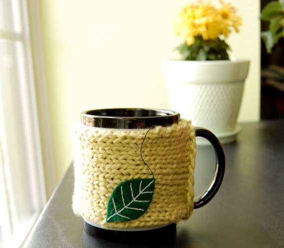 Green Leaf Tea Mug Cozy
