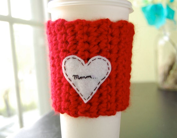 Reserved for laurenblythedesigns - Mmm Coffee Tea Love Paper Cup Cozy
