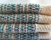 4 Placemats Blue Hand Woven cotton placemat