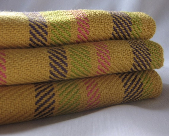 Tea Towel Set of Two Hand Woven Cotton