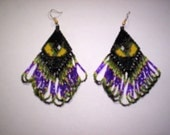 Brick Stitch Cats Eye in Diamond Delica Seed Beading PDF E-File Dangle Earring Pattern-174