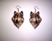 Brick Stitch Wolf of Many Colors  Delica Seed Bead Beading PDF E-File Earring Pattern-179