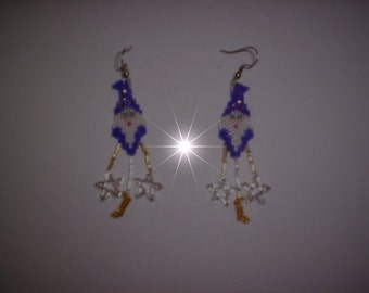 Vertical Brick/Peyote Stitch Little Wizard Delica Seed Beading PDF E-File Earring Pattern-99
