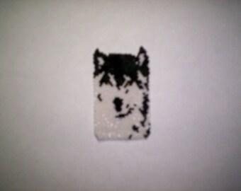 Brick Stitch Wolf Pendant / Panel Seed Beading PDF E-File  Pattern-251