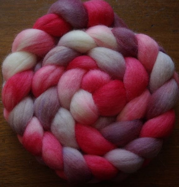 Wine on the Patio Spinning Fiber Corriedale