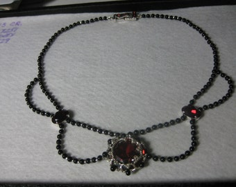 Heart of the Fire Beaded Necklace so Romantic