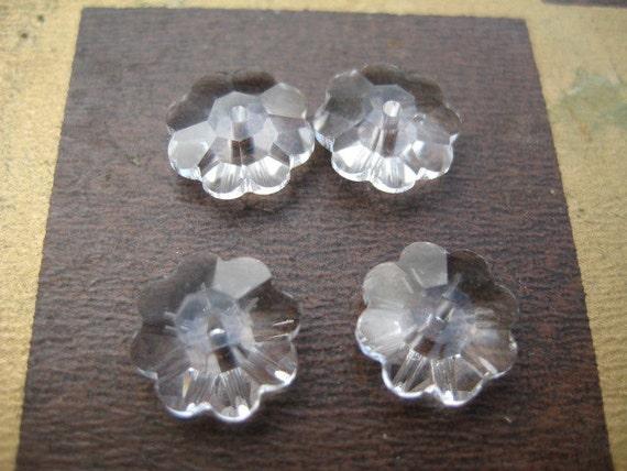 Lot of 6 6mm Crystal Marguerite Lochrosen Flowers by Swaroski