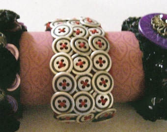 Stretch on Button Bracelet Beauties