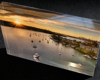 Medium acrylic photo block No.18