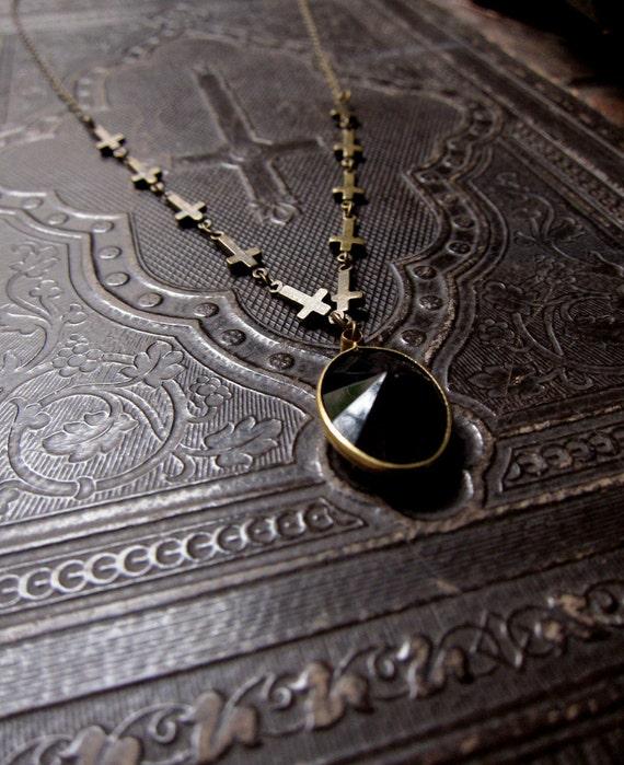 Sabbath Inverted Cross Necklace