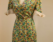 Vintage Retro Valentino Night Dress Bergdorf Goodman Floral Housewife 70s 80s Casual Size 4 6 8 Medium