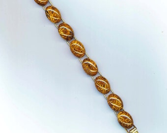 Chrysanthemum Agate Bracelet . Chocolate Caramel Gemstone Cuff. Halloween Thanksgiving Autumn Jewelry - Earth Tones by enchantedbeas on Etsy