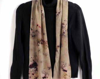 Silk Scarf, Hand Dyed:  Winter Forest