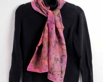 Hand painted silk scarf: Venetian Festival