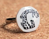 alphabet ring - G for giraffe
