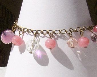 Pleasing in Pink Charm Bracelet