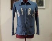 SALE - Vintage 1960s Blue Varsity Cardigan