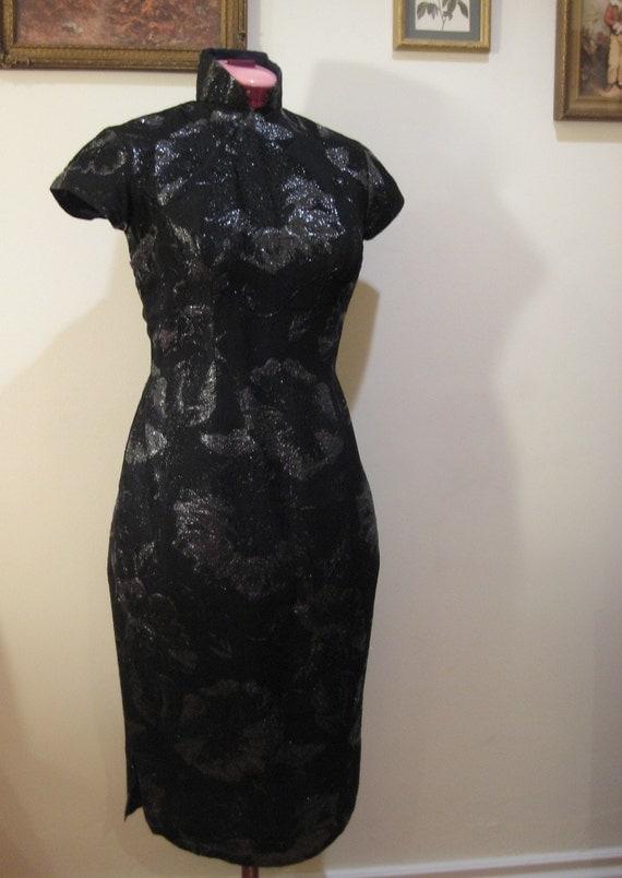 SALE - Vintage 1960s Hollywood Glamour Evening Dress