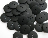 Plain Black Buttons 18mm 24 pieces