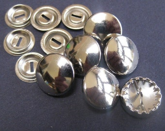 12 Cover Button Blanks Size 24 15mm