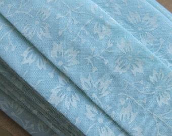 5m Handmade Pastel Aqua Blue Cotton Bias Binding