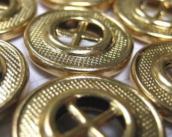 10 Gold Wheel Buttons