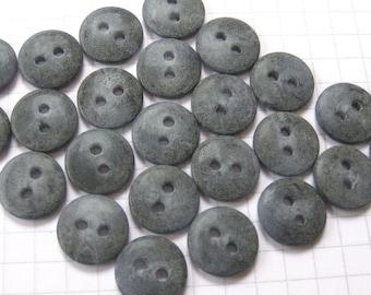 25 Gray Lentil Buttons