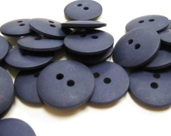 Plain Navy Blue Buttons 20mm 24 pieces