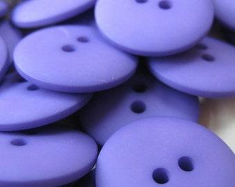 Plain Lavender Purple Buttons 20mm 24 pieces