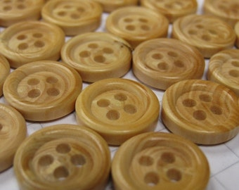 100 Tiny Fake Wood Buttons