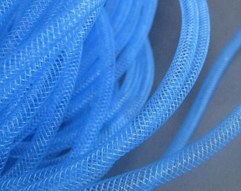 3 metres Bright Blue Tubular Ribbon