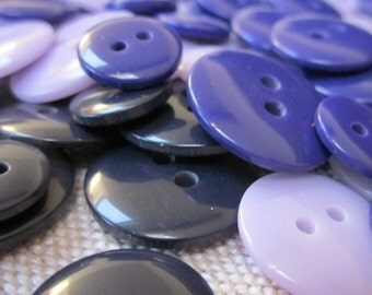 Mixed Size Blue Purple Buttons