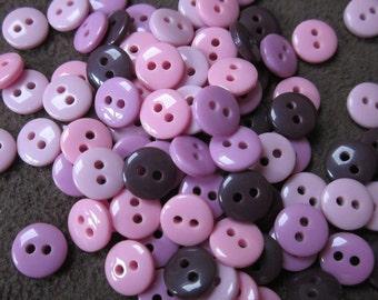Mini Berry Purple Mix Tiny Buttons