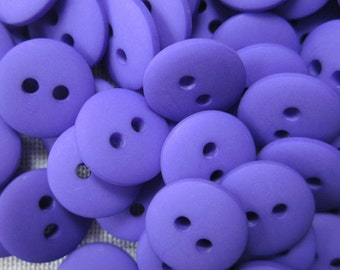 100 Mini Plain Bright Purple Buttons