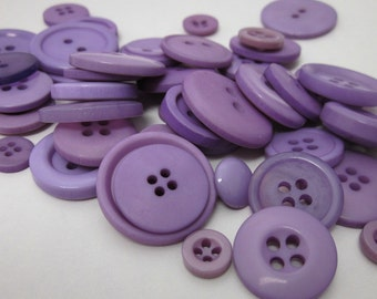 60g Mixed Purple Buttons