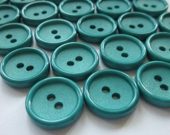 25 Bright Green Buttons