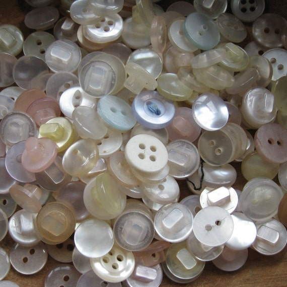 RESERVED 90g Mixed Small White Vintage Buttons