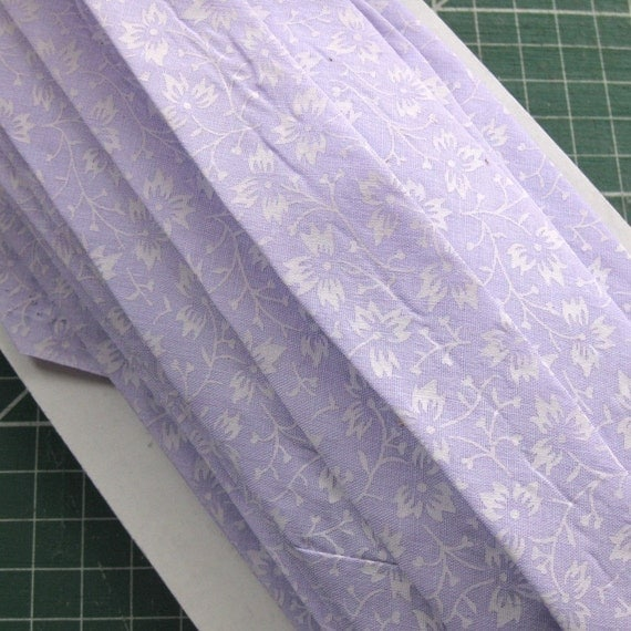 Handmade Lilac Print Cotton Bias Binding