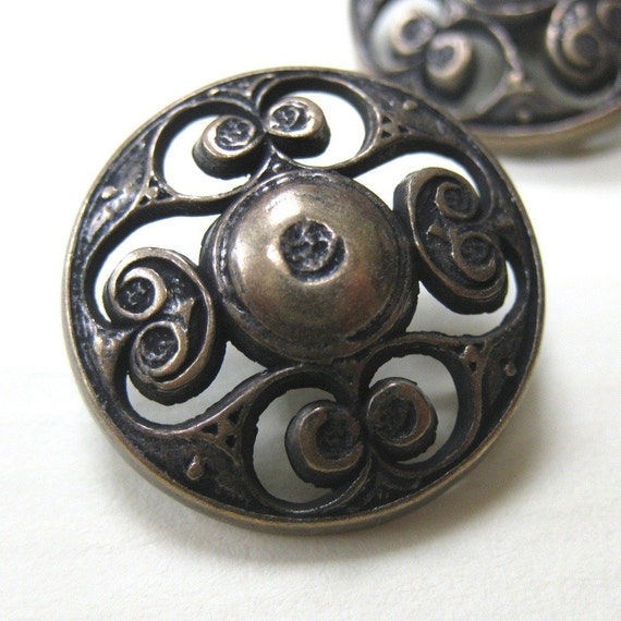 10 Bronze Celtic Filigree Buttons