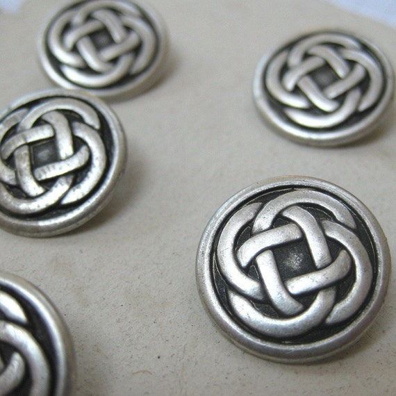 6 Small Celtic Knotwork Buttons