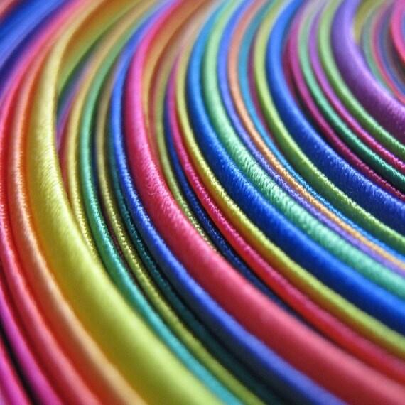 Rainbow Satin Bias Binding