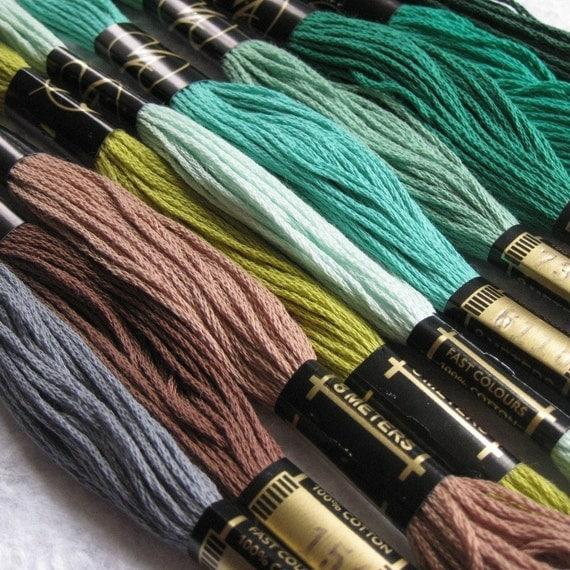 Earthtones Embroidery Threads