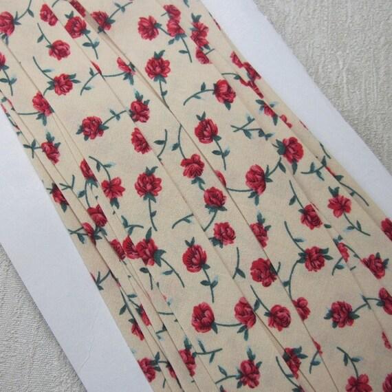 Handmade Yellow Retro Print Bias Binding