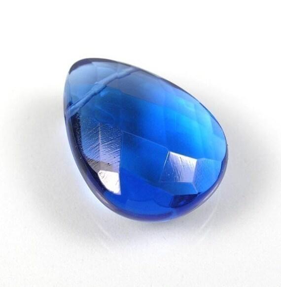25x18mm London Blue Quartz glass Pendant bead  1pc
