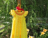 An Angel in Sunshine Yellow and Tulip Red  2T