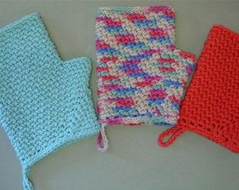 Topless Fingerless Bath Mitt Face Cloth Instant Download PDF Crochet Pattern