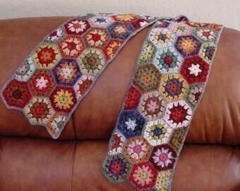 Crochet Pattern Boho Hexagon Scarf Wrap Instant Download PDF Crochet Pattern