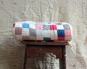 Antique 9 Patch Quilt Hand Stitched and Tied Cutter